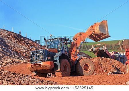 Front Loader on a road construction site