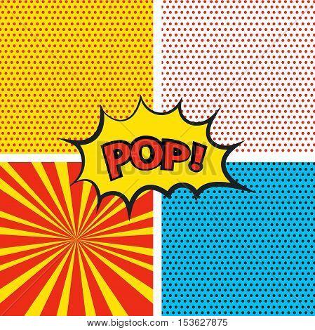 Set pop art background. Сollection pop art. Vector illustration