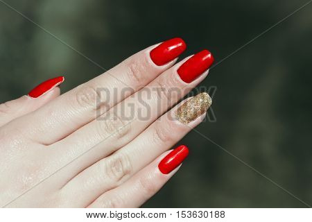 Fashionable Female Hand With Manicure