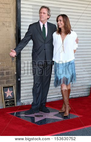 LOS ANGELES - OCT 25:  Hugh Laurie, Diane Farr at the Hugh LaurieHollywood Walk of Fame Star Ceremony at the Hollywood Blvd. on October 25, 2016 in Los Angeles, CA