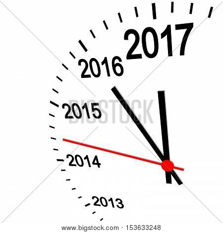 New Year 2017 Clock