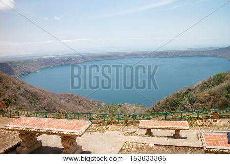 apoyo lagoon in Nicaragua. Laguna de Apoyo