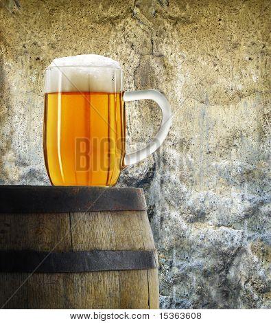 Mug of beer in vintage style