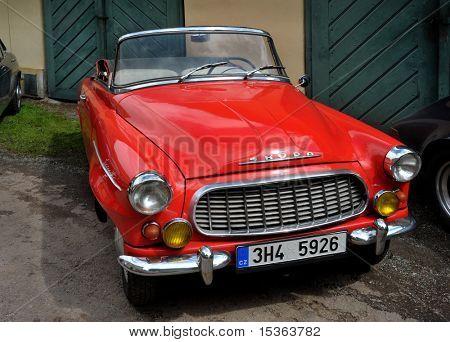 RATIBORICE, CZECH REPUBLIC - AUGUST 7: IX. Vintage car show  - Skoda Felicia 1960.  August 7, 2010 in Ratiborice Castle, Czech Republic