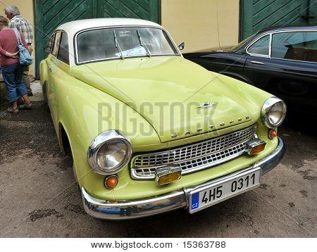RATIBORICE, CZECH REPUBLIC - AUGUST 7: IX. Vintage car show  - Wartburg model from 1963.  August 7, 2010 in Ratiborice Castle, Czech Republic