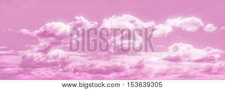 Panoramic pink sky - composition made of several toned images