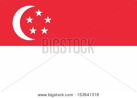 Official vector flag of Singapore . Republic of Singapore .