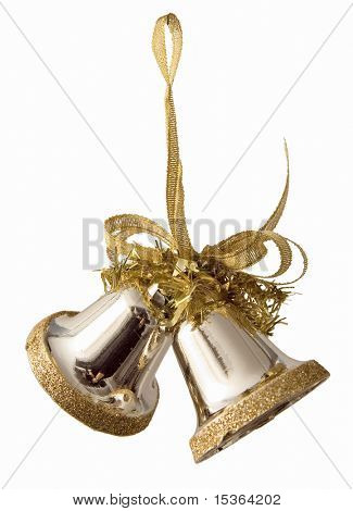 Gold new year bells.
