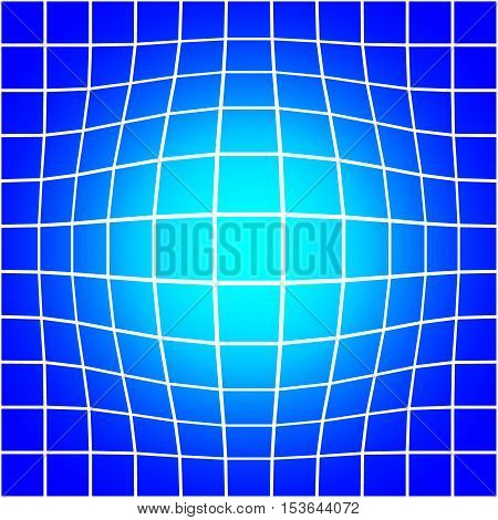 White Bloat Grid on Blue Background Seamless Pattern Vector Illustration