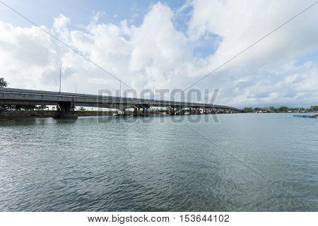 Sarasin bridge way to Phuket islandBridge connect Phang Nga province to Phuket Thailand.