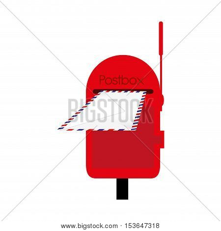 mailbox or postbox icon image vector illustration design