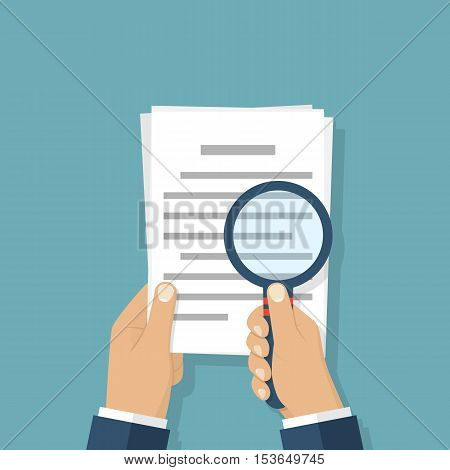 Magnifier And Paper Document