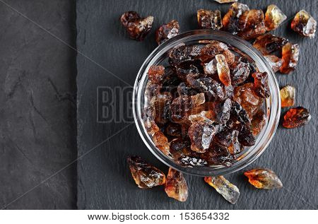 Caramelized Sugar In Glass Bowl