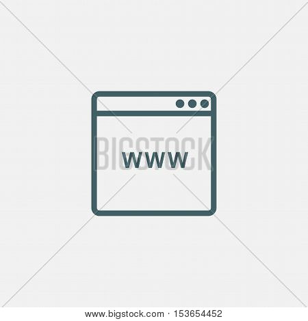 browser window icon isolated on white background. website browser icon illustration design