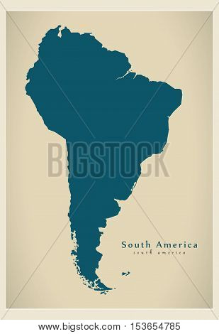Modern Map - South America Map Complete