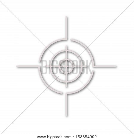 Simple Vector target icon on white background