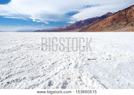 Salt Crust In Badwater Basin, Death Valley, California