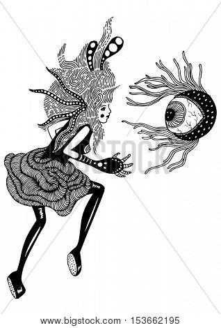 psychedelic stylish poster illustration