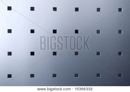 Blue smooth metal surface with squares. poster