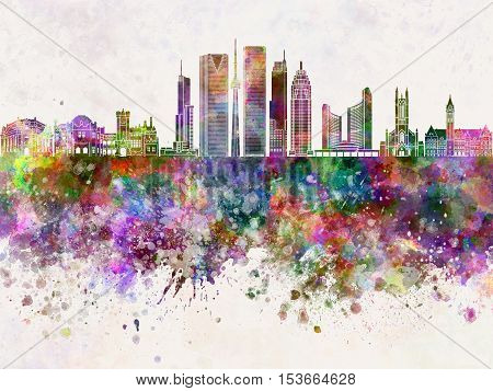 Toronto skyline artistic abstract in watercolor background
