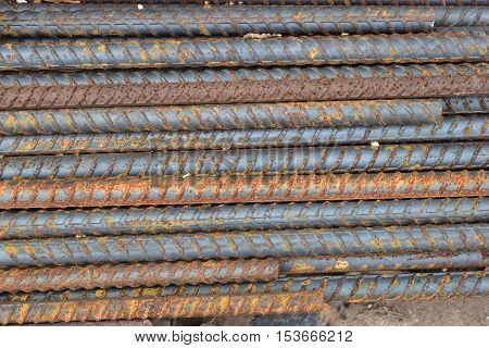 Division re-bar old Rust due to improper storage.
