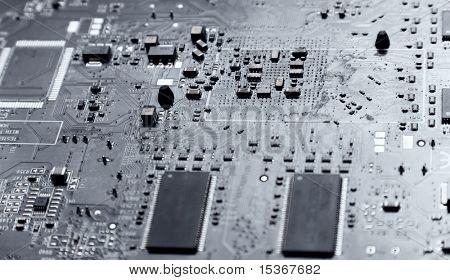 Computer chip. Light silver tint.
