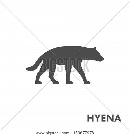 Black vector figure of hyena. Vector african animal for web and design.