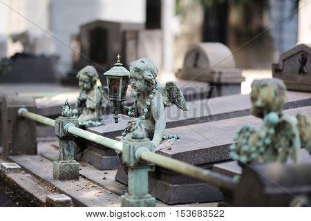 Rusty Iron Sculpture Of An Angel