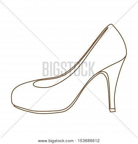 high heel pump shoe icon image vector illustration design