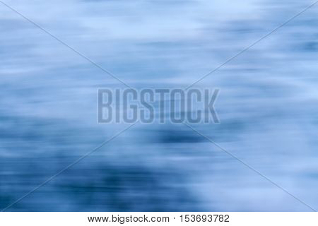 Abstract speedy water movement waterwhite and blue background pattern