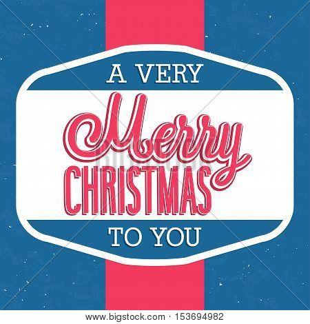 Merry Christmas creative typographic design. Vector illustration.