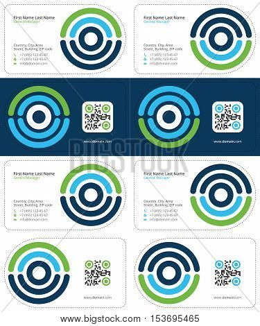 Scan business cards vector photo free trial bigstock scan business cards with qr code medical business cards dark blue blue and reheart Image collections