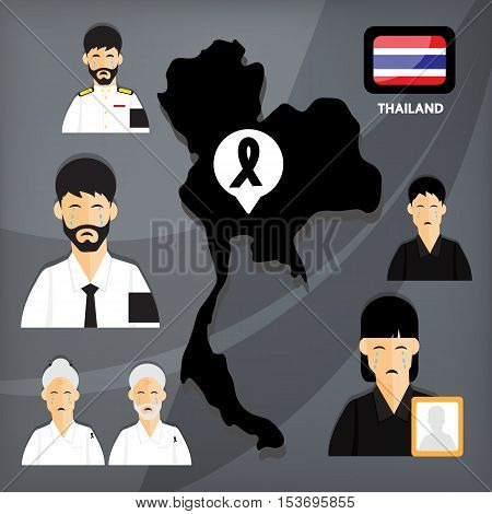 The death of the King of Thailand. All people in Thailand are in mourning. It's a great loss to the Thai people.