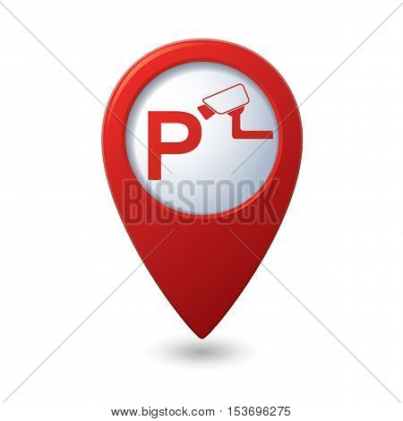 Parking under supervision icon on map pointer