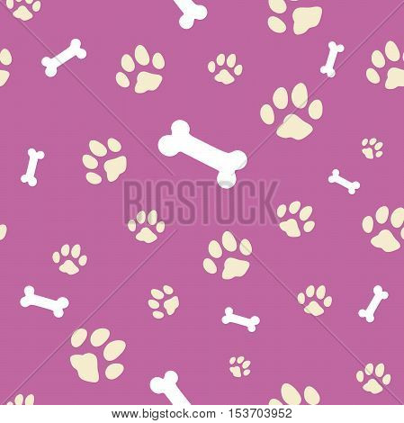 pink bone and paw textura sameless tile