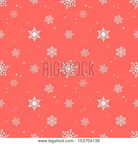snowflake red pastel colour background christmas pattern tint layer wallpaper