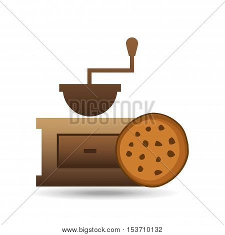 cookie bakery icon design graphic vector illustration