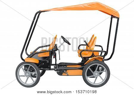pedal quad bike isolated on white background