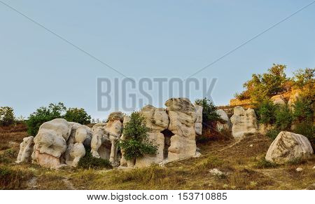 Kаrdjali Pyramids in the summer, Zimzelen village, Bulgaria