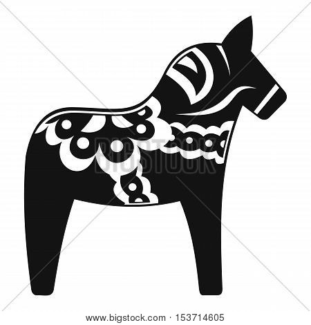 Toy horse icon. Simple illustration of toy horse vector icon for web