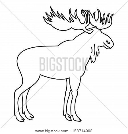 Moose icon. Outline illustration of moose vector icon for web