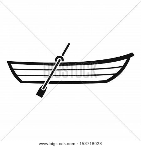 Boat with paddle icon. Simple illustration of boat with paddle vector icon for web