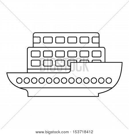 Large passenger ship icon. Outline illustration of large passenger ship vector icon for web