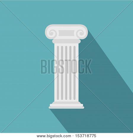 Roman column icon. Flat illustration of roman column vector icon for web