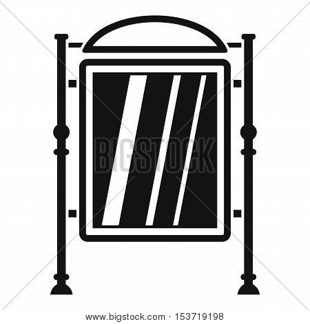 Advertising sign icon. Simple illustration of advertising sign vector icon for web