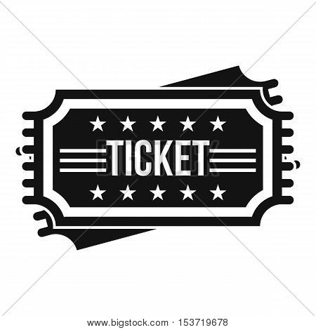 Ticket icon. Simple illustration of ticket vector icon for web
