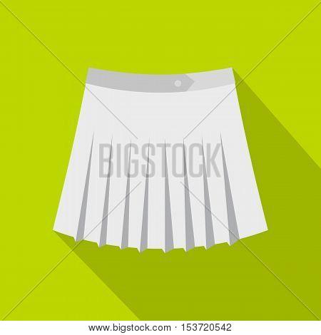 Tennis female skirt icon. Flat illustration of tennis female skirt vector icon for web