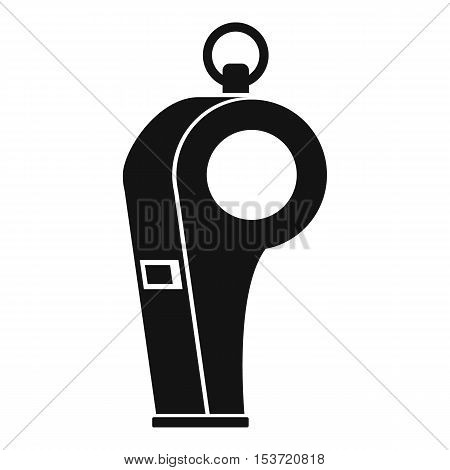 Whistle of refere icon. Simple illustration of whistle of refere vector icon for web