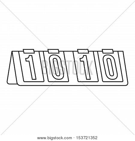Tennis scoreboard icon. Outline illustration of tennis scoreboard vector icon for web