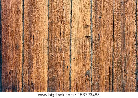 The wooden wall. The wood texture or background.